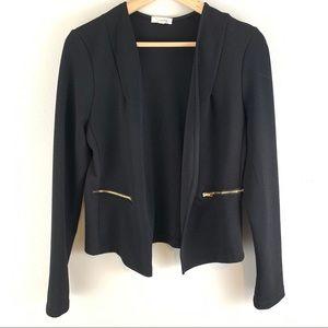 Kaii Women's Open Front Jacket with Zipper Pocket